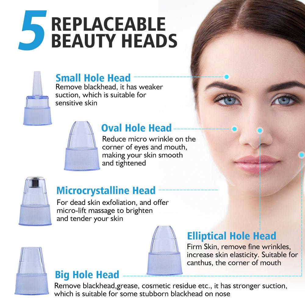 Máquina de limpeza facial elétrica ponto removedor de acne