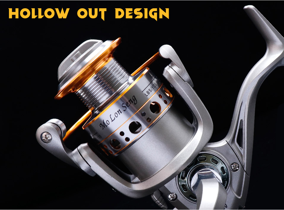 TREHOOK Super Strong 5.21 Baitcasting Reel Metal Spinning Reel Winter Fishing Accessories Sea Fishing Reels With Wooden Knob 011