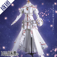 2019 Anime Sword Art Online Asuna Yuuki Dress White Cosplay Costumes Uniform for Halloween SAO Asuna Battle Suit New Outfit