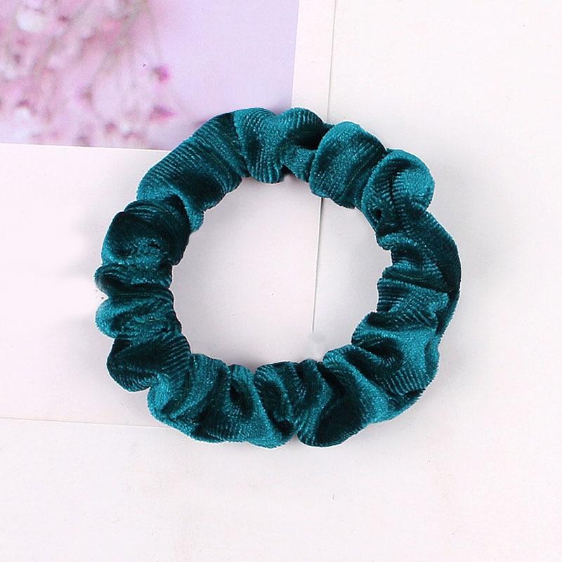 1 шт., женское эластичное кольцо для волос, зимние мягкие бархатные резинки, резинки для волос, милые одноцветные аксессуары для волос, держатель для конского хвоста - Цвет: Velvet-9