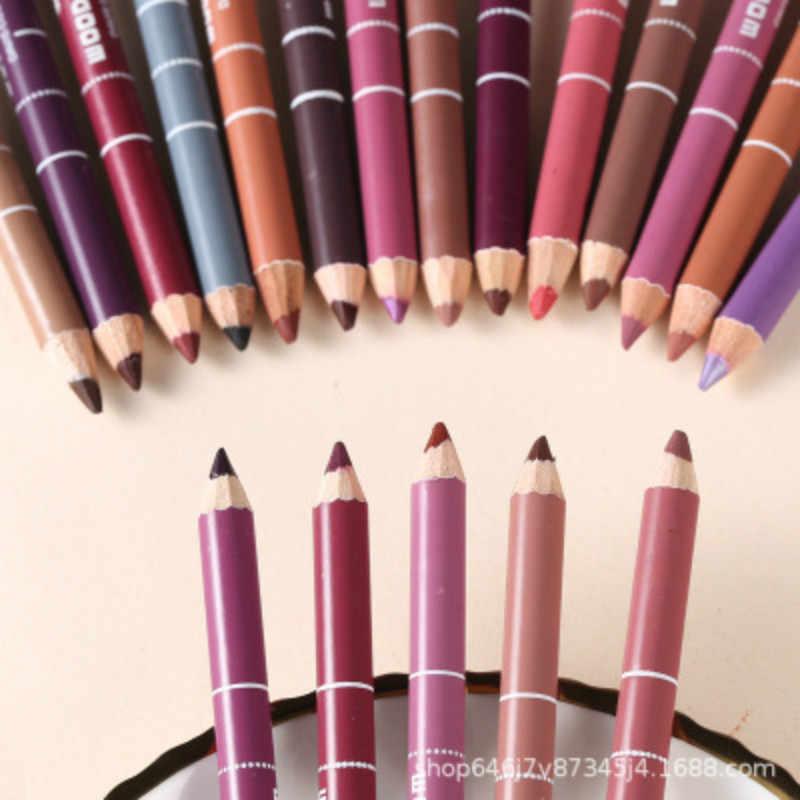 1 قطعة 28 الألوان مثير الأحمر ماتي للماء الشفاه عصا تخطيط الشفاه قلم تحديد عارية Lipsliner مجموعة أقلام الجمال ماكياج أداة التجميل