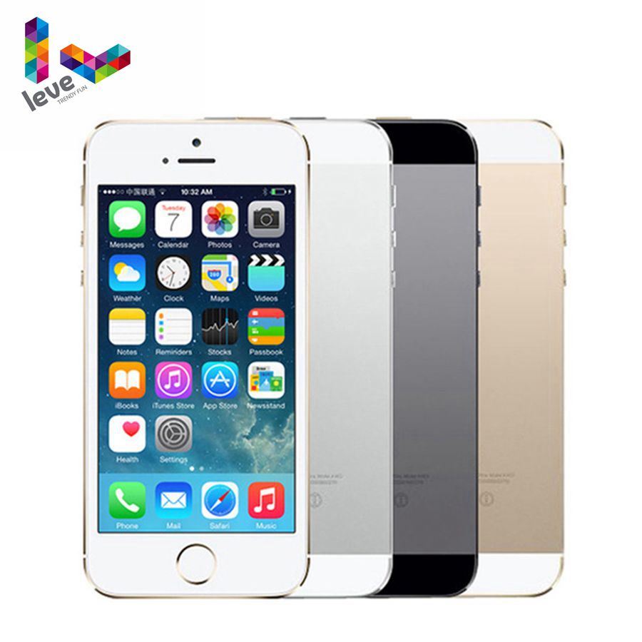 Apple iphone 5s 4G LTE 4.0 ''affichage 16 GB/32 GB/64 GB ROM WiFi GPS 8MP IOS tactile ID empreinte digitale Original débloqué smartphone