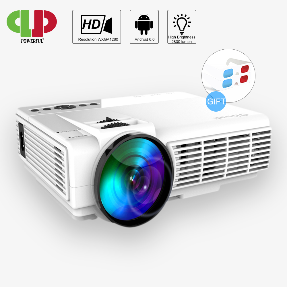 POWERFUL mini Projector Q5 Full-HD 1080P Led Projector Android connect WIFI free 3D glasses Remote Home Theater