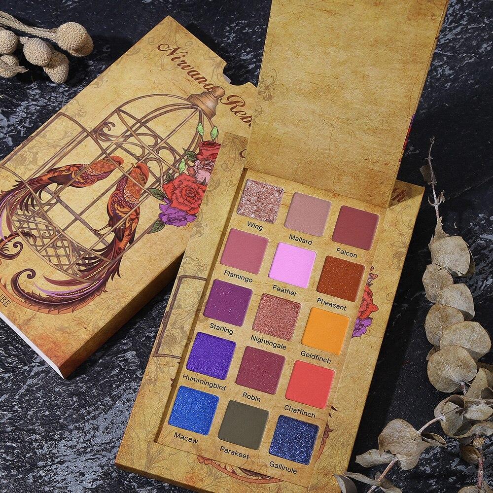 UCANBE Cageling 15 Cores Shimmer Matte Sombra Paleta Glitter Em Pó Da Sombra de Olho Maquiagem Cremosa Pigmentada Cosméticos À Prova D' Água