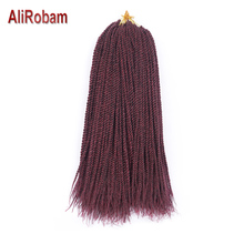 AliRobam Crochet Braids Havana Mambo Twist 14 18 22inch Synthetic Fiber Senegalese Hair Extensions 30 Strands/pack