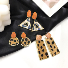 Statement Earrings 2019 Black Square Geometric Earrings For Women Crystal Luxury Wedding Rhinestone Earring pair of charming rhinestone faux crystal leaf floral geometric earrings for women