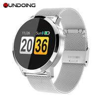 RUNDOING Q8 Smart Watch OLED Color Screen Smartwatch women Fashion Fitness Tracker Heart Rate monitor
