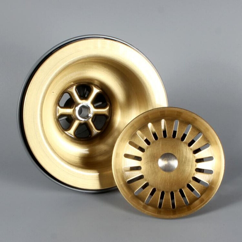 Bronze Brass 3 5inch Kitchen Sink Drain Strainer sink with Removable Sink Strainer Basket and Seal Lid