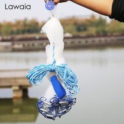 Lawaia Iron Pendant Hand Cast Net Fishing Net Transparent Monofilament Wire Landing Net Diameter 2.4m 3.6m 7.2m