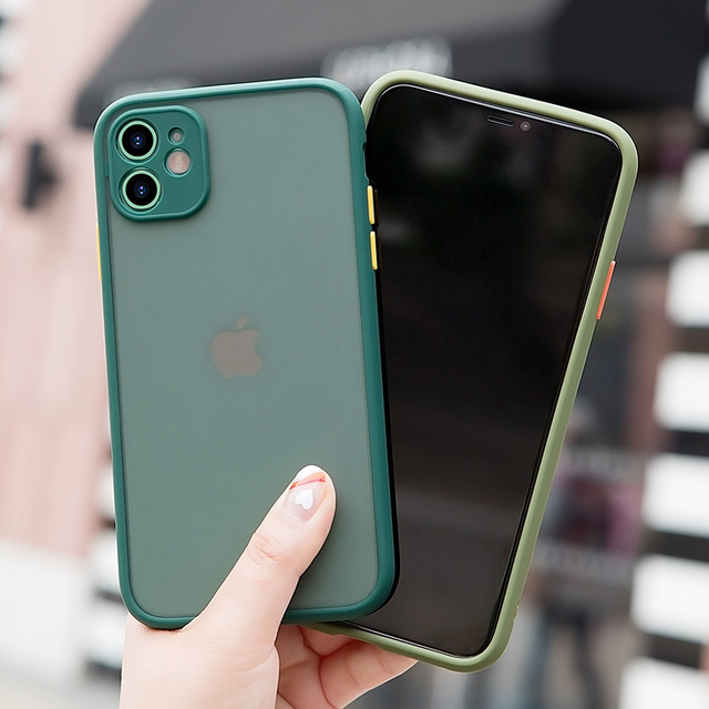 Camera Lens Protection Phone Case on For iPhone 11 Pro Max 6 6S 7 8 Plus XR XSMax X XS SE 2020 Candy Color Soft Back Cover Gift 2