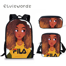 Scool Bag Afro Lady Girl Backpack Africa Beauty Princess Girls Children School Bags For Teenager Brown