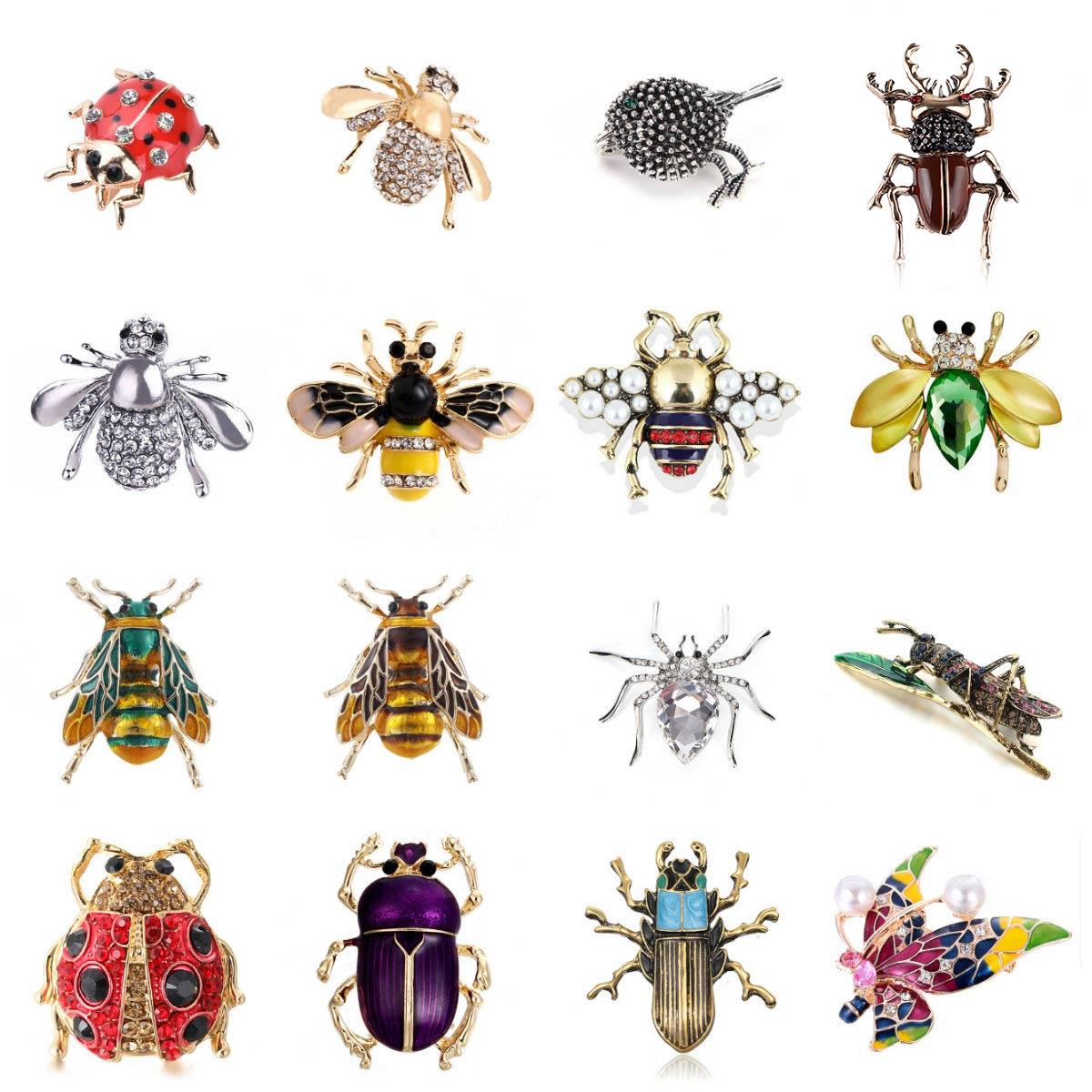 Животное, пчела, божья коровка, муравьи, птица, улитка, броши, насекомое, брошь на булавке, ювелирные изделия, для банкета, рождественские под...