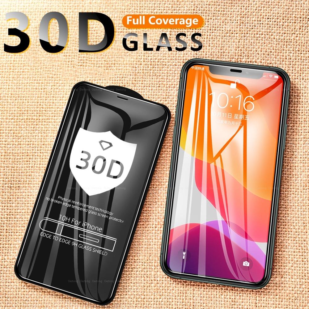 Vidro de proteção 30d para iphone xr x 10 11 pro xs max temperado protetor de tela de vidro para iphone 6s 7 8 plus se 2020 vidro frontal