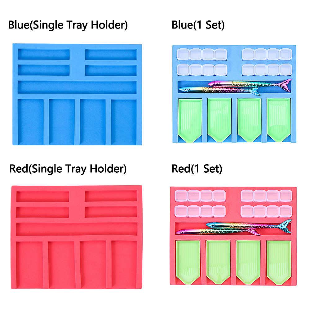 Painting Tray Holder Point Drill Pen Beading Storage Tray Diamond Painting Kits