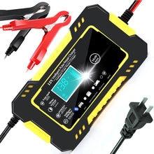 Auto Batterie Ladegerät 12V 6A Touchscreen Puls Reparatur LCD Schnelle Power Lade Nass Trocken Blei Säure Digital LCD display