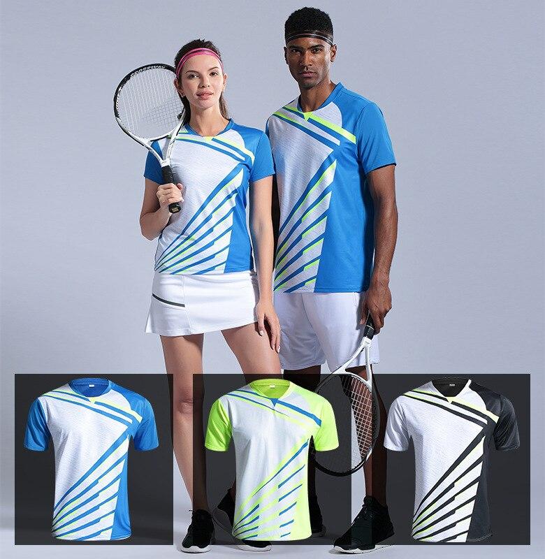 Camisa de Tênis de Mesa Homem Padel Camisa Badminton Esporte Correndo Secagem Rápida Respirável Jérsei Treinamento Shrits2
