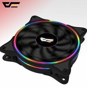 Image 1 - Aigo ventilateur pour boîtier darkFlash LED, 120mm, ventilateur couleur arc en ciel, silencieux, 4 broches, 12cm, ventilateur de bureau, PC, ordinateur, radiateur