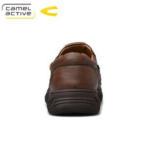 Image 2 - גמל פעיל חדש אמיתי עור גברים של נעלי אופנה חדשה סט רגל רך עור פרה קל משקל לנשימה נעליים יומיומיות גברים לופרס
