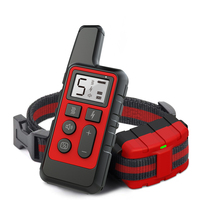 Pet Training Collar Receiver IP67 Waterproof Remote Control LCD Shock Vibration Sound