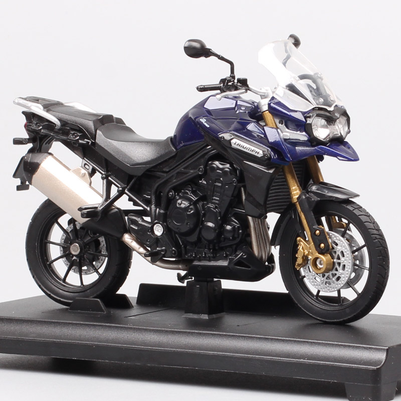 Children's 1/18 Scale Small Welly Triumph Tiger Explorer 1200 Touring Motorbike Diecasts & Toy Vehicles Motorcycle Models Gift