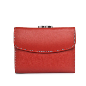 Image 1 - Beth Cat Fashion Short Genuine Leather Women Wallet New Female Small Wallet Money Bag Lady Mini Card Holder Coin Pocket Purses
