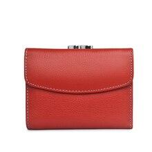 Beth moda dla kotów krótki portfel ze skóry naturalnej kobiet nowy portfel damski mały portfel Lady mini etui na karty portmonetki kieszonkowe