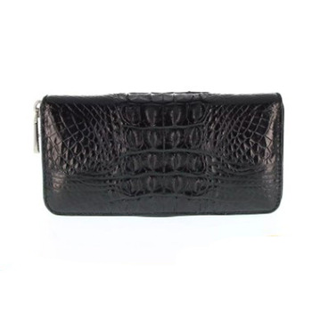Hongzhiyan crocodile leather men clutch bag Purse lady's long zipper clutch business lady's leather clutch фото