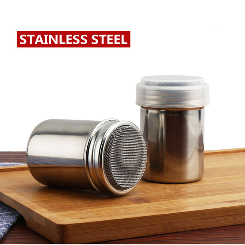 Stainless Steel Chocolate Shaker Cocoa Flour Salt Powder Icing Sugar Coffee Sifter Shaker Coffee Filters BBQ Kitchen Tools