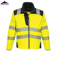 Portwest Hi Vis Softshell Jacket Work Safety Protective Reflective Waterproof Coat Outdoor Windproof Water resistant Workwear