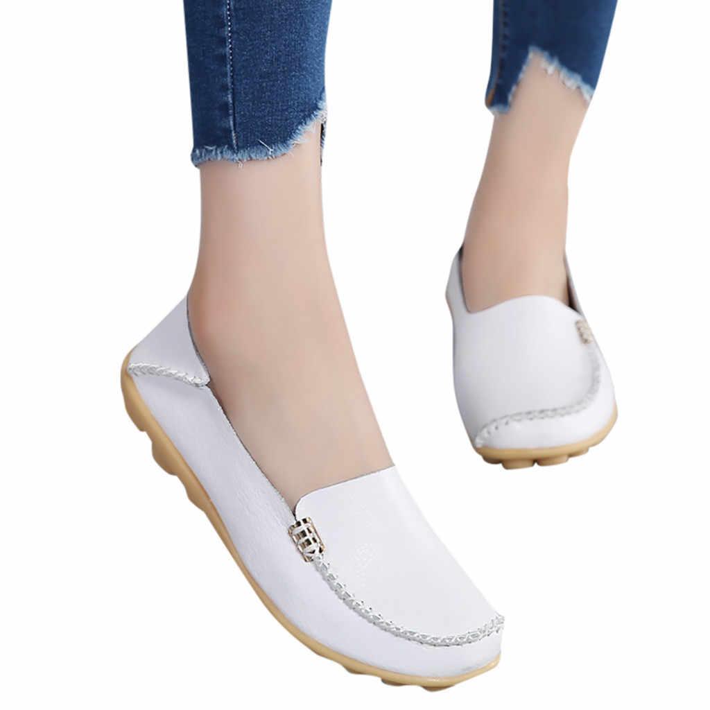 SAGACE Mẹ Giày Mềm Mại Nữ Thoải Mái Y Tá Giày Người Phụ Nữ Giày Tự Nhiên Thoải Mái Flat Nam 2019