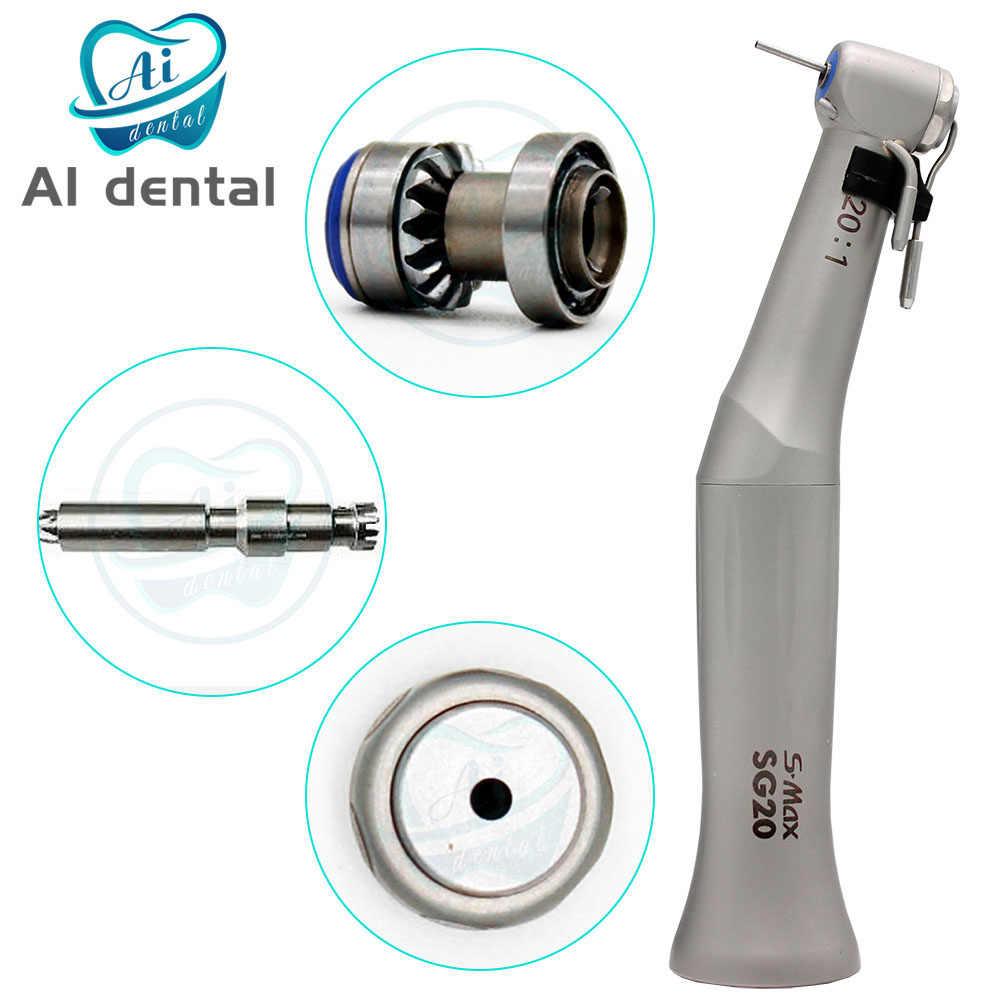 20:1 הפחתת נמוך מהירות קונטרה זווית השקיה מערכת לדחוף סוג נעליים ללא אופטי עבור שיניים שתל ניתוח