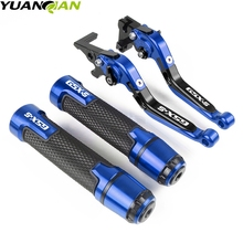 Motorcycle Adjustable Folding Brake Clutch Levers Handlebar Hand Grips For SUZUKI GSR750 GSX-S750 GSR/GSX-S/GSXS 750 2011- 2018 new cnc brake lever for suzuki gsx s750 gsx s750 gsx s 750 gsxs750 2011 2018 folding telescopic brake clutch handle 16 colors