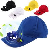 Acampamento caminhadas boné pico com ventilador movido a energia solar chapéu de beisebol ventilador de refrigeração boné de pesca verão djustable praia chapéu sol viseira|Bonés de pesca| |  -