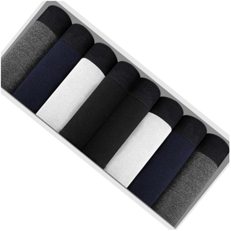 8pcs Cotton Men's Underwear Boxers Male Panties Breathable Sexy Man Boxer Solid Underpants Comfortable Plus Size Shorts Lot