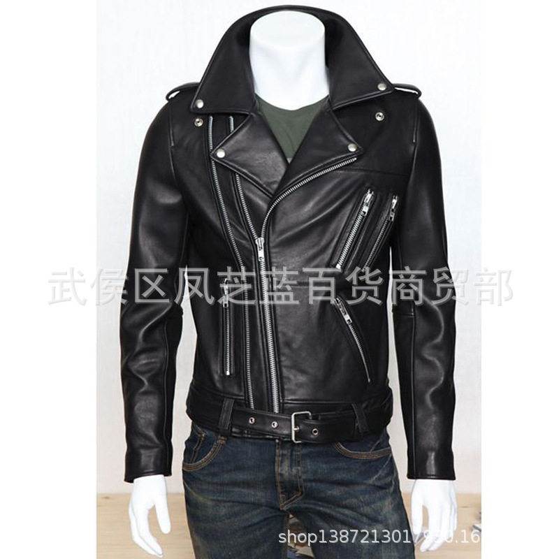 2019 Autumn And Winter New Style Men PU Jacket Coat Men's Locomotive Leather Coat MEN'S Leather Clothing New Products