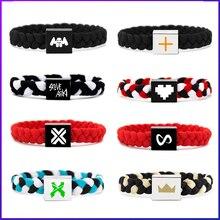 Electronic Music Marshmel Illenium Knitting Rope Bracelets Taiji Kygo Electric Family DJ Bracelet Lovers