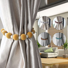 1 шт зажимы для штор с помпоном элегантные завесы пряжкой на