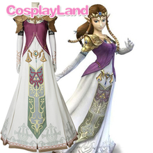 The Legend of Zelda Twilight Princess Cosplay Costume Halloween Party Women Dress Zelda Princess Cosplay Dress Custom Made the touhou project yukari yakumo cosplay costume halloween luxury party dress custom made