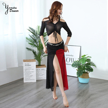2020 New Arrival Belly Dance Short Sleeves Top+Long Skirt 2Pcs Clothes Summer Dancer Wear For Women Stage Show Costumes