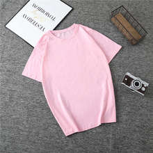 New Harajuku Tee Shirt 4 Solid Color Basic T Shirt Women Casual O-neck Friends Summer Top Korean Hipster Streetwear White Tshirt