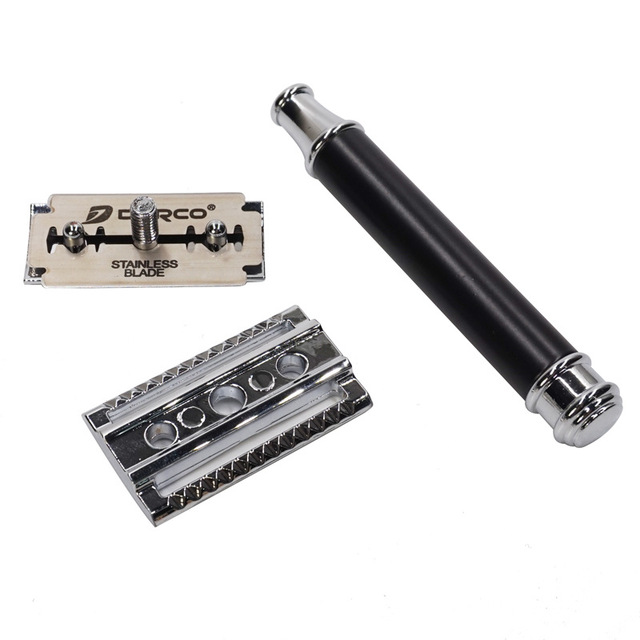 WHZ SKU2975 Metal Mesh Vintage Razor Retro Double-sided Shaver 3