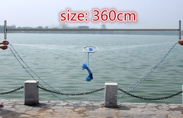 Net Fishing Hand Throwing Nets Special Aluminum Ring Catch Auxiliary Accessory