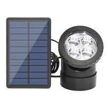 цена на RGB Solar Led Underwater Lights Pond Light Landscape Spotlight IP68 Waterproof Submarine Projector Light for Pond Garden Lawn