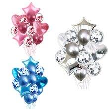 14 шт конфетти Сердце Звезда фольга наборы шаров День Рождения