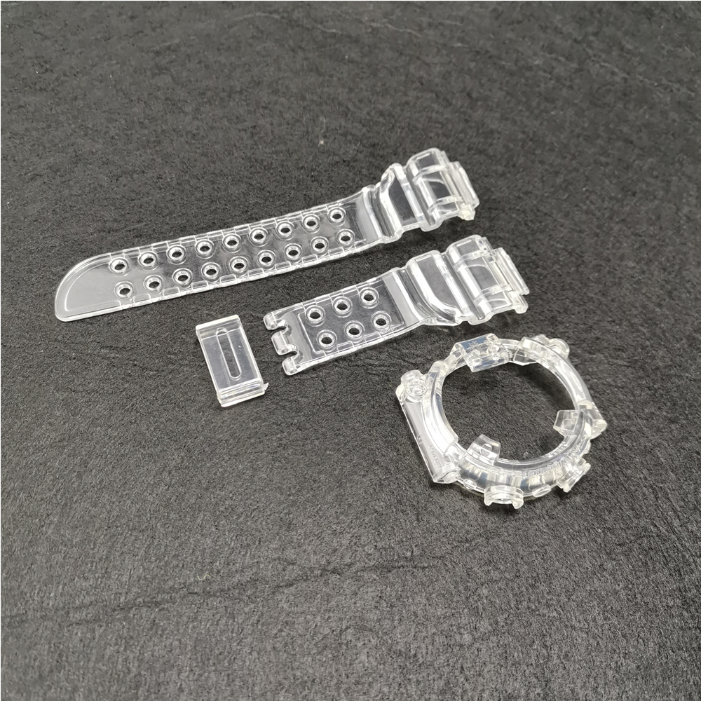 A Set For DW8200 Bezel Ice Transparent Watchband Strap Watch Cover Bracelet Silicone Replacement DW8200 Strap Wholesale