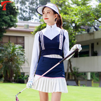 Womens Sleeveless Knit Camisole Ladies Soft Elastic Vest Striped V Neck Sports Vest Golf Ball Clothes D0850
