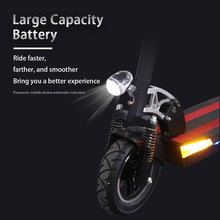 48V 500W E Scooter 100KM High Speed 10 Inch Fat Tire with seat Foldable Hoverboard long skateboard Electric Scooter e Scooter