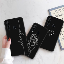Phone Case For Huawei Honor 9 10 20 Lite Pro Astronaut Black TPU Cases Honor 10i 20i Moon Star Cover Honor View 10 20 V10 V20 цена 2017