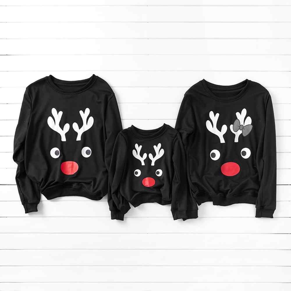PatPat Simple Deer Pattern Family Sweatshirt Autumn and Winter Sports and Leisure for Kid Mom Dad