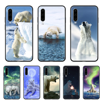 lovely animal Simplicity Bear Phone case For Huawei P 30 10 20 40 Lite Smart Z Pro 2019 black shell silicone funda 3D image